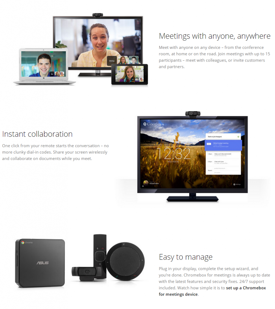 Chromebox for Meetings Features